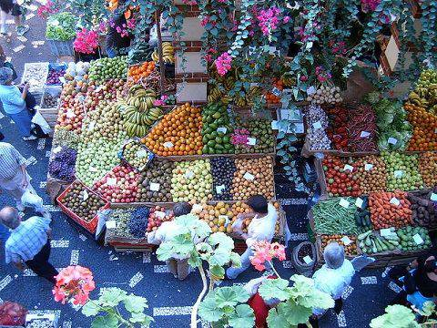 Flower and fruit market in Funchal