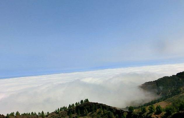 Above the clouds at Mirador de los Pinos de Galdar