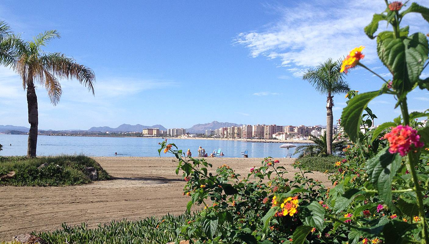 The beach at Aguilas has a tropical feel