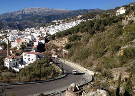 Mountain road into Competa in Andalucia