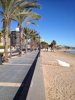 Benicassim beach in January