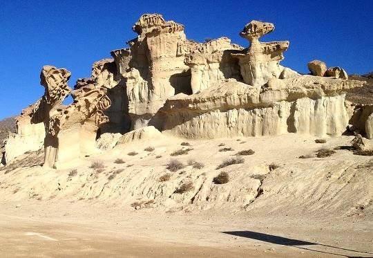 Alien rock formation at Bolnuevo