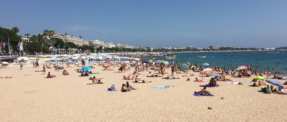 Cannes Beach in July