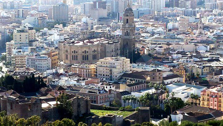 View of Malaga Old town