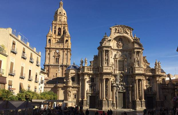 Murcia Cathedral viewed from the front