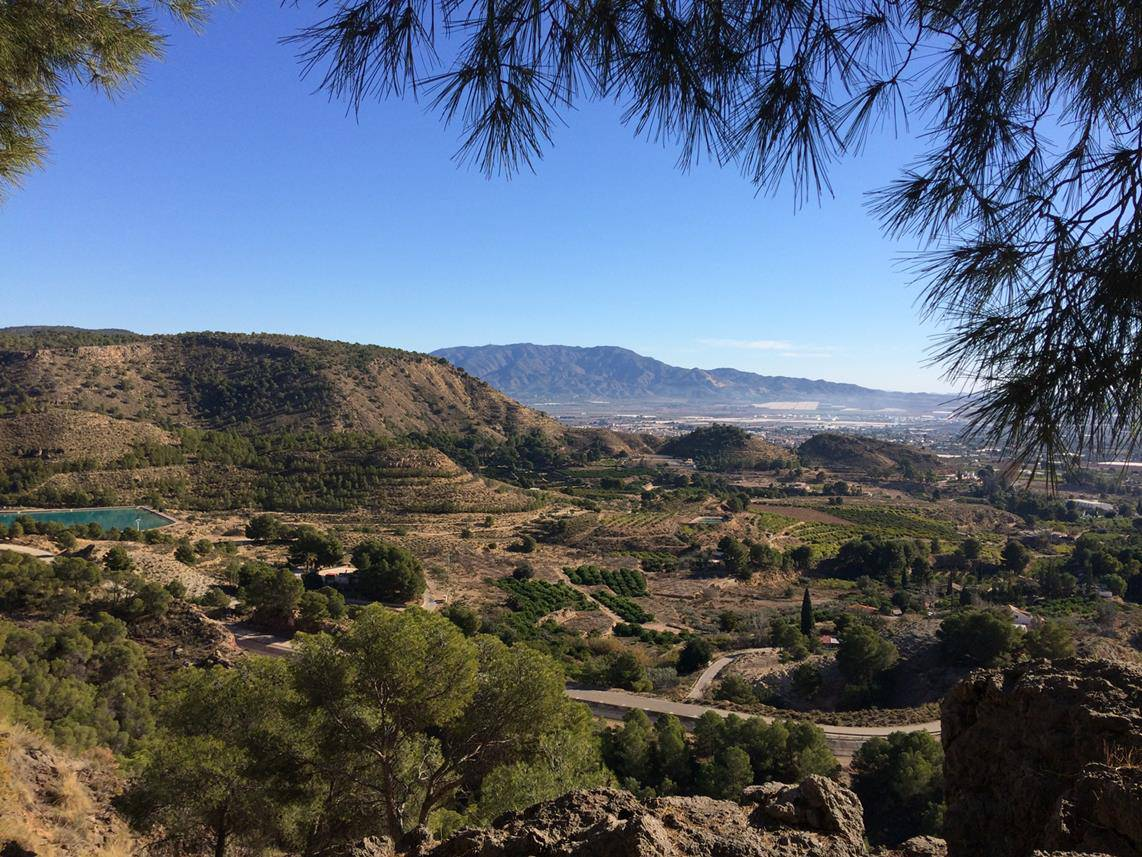 View from the Sierra Espuna looking towards alhama de Murcia