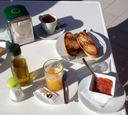 Spanish breakfast